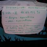 Cartello ad hackit 2011: Divinazioni automatiche