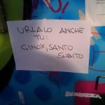 Cartello ad hackit 2011: Ginox, Santo Subito!