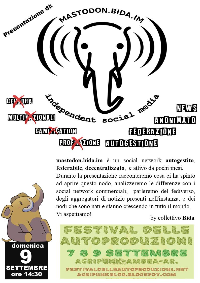 La presentazione di Mastodon al Festival delle autoproduzioni